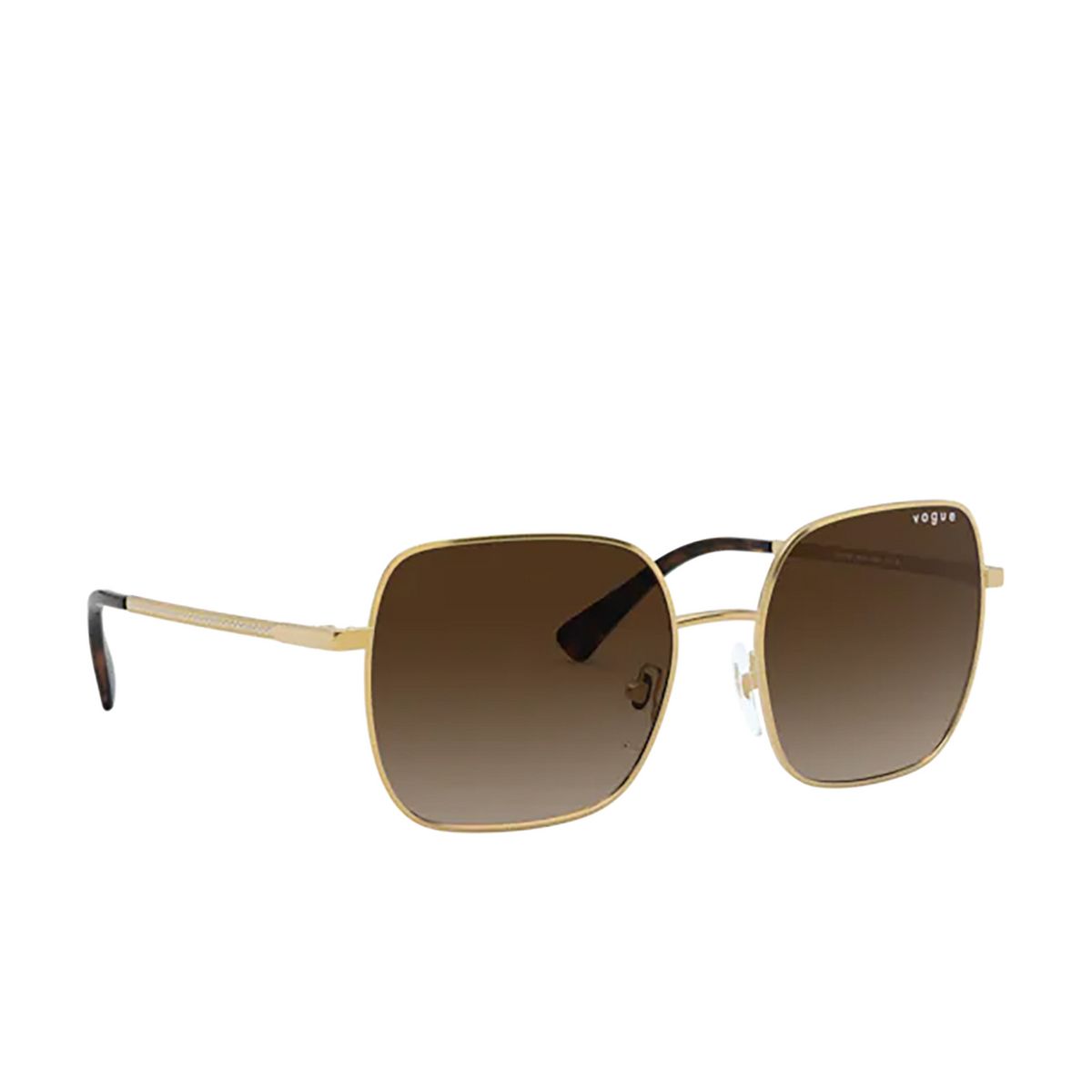 Vogue® Square Sunglasses: VO4175SB color Gold 280/13 - three-quarters view.