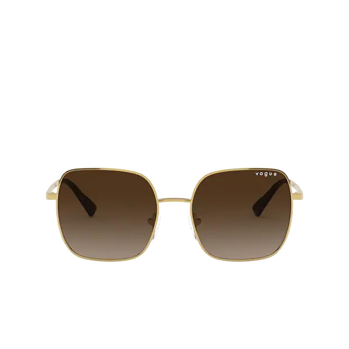 Vogue® Square Sunglasses: VO4175SB color Gold 280/13 - front view.