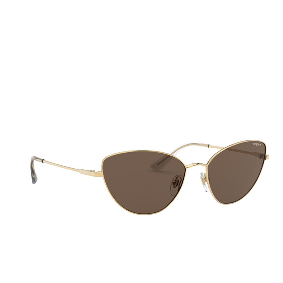 Vogue® Cat-eye Sunglasses: VO4179S color Gold 280/73 - three-quarters view.