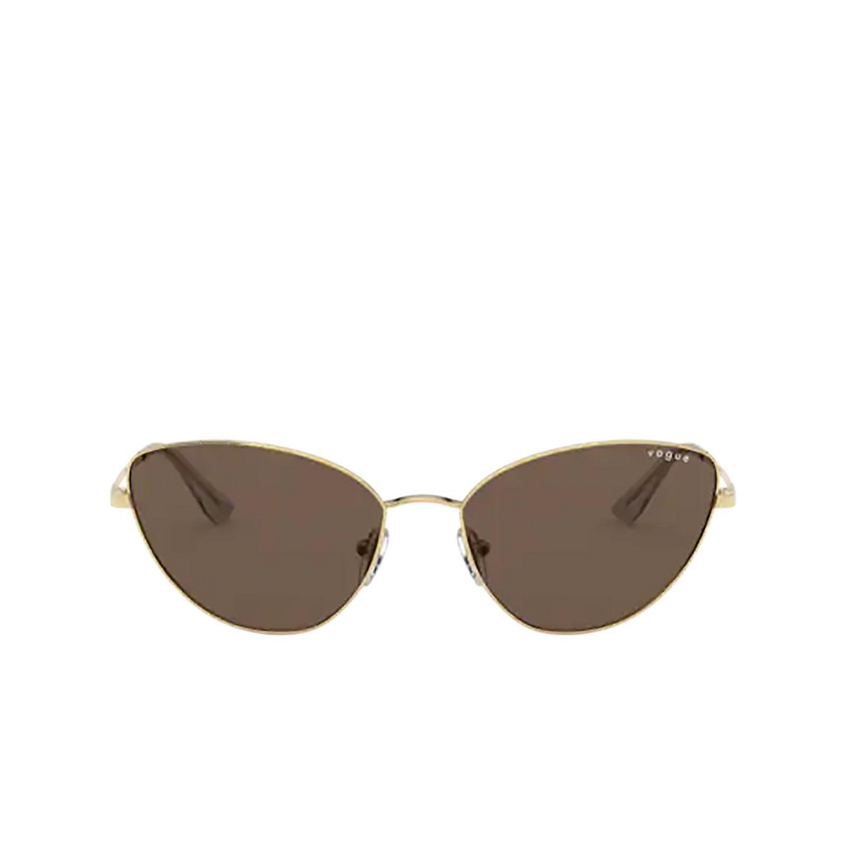 Vogue® Cat-eye Sunglasses: VO4179S color Gold 280/73 - front view.