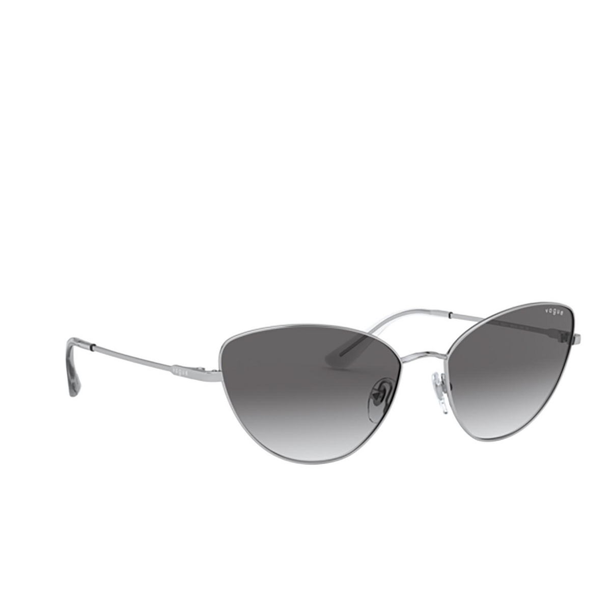 Vogue® Cat-eye Sunglasses: VO4179S color Silver 323/11 - three-quarters view.