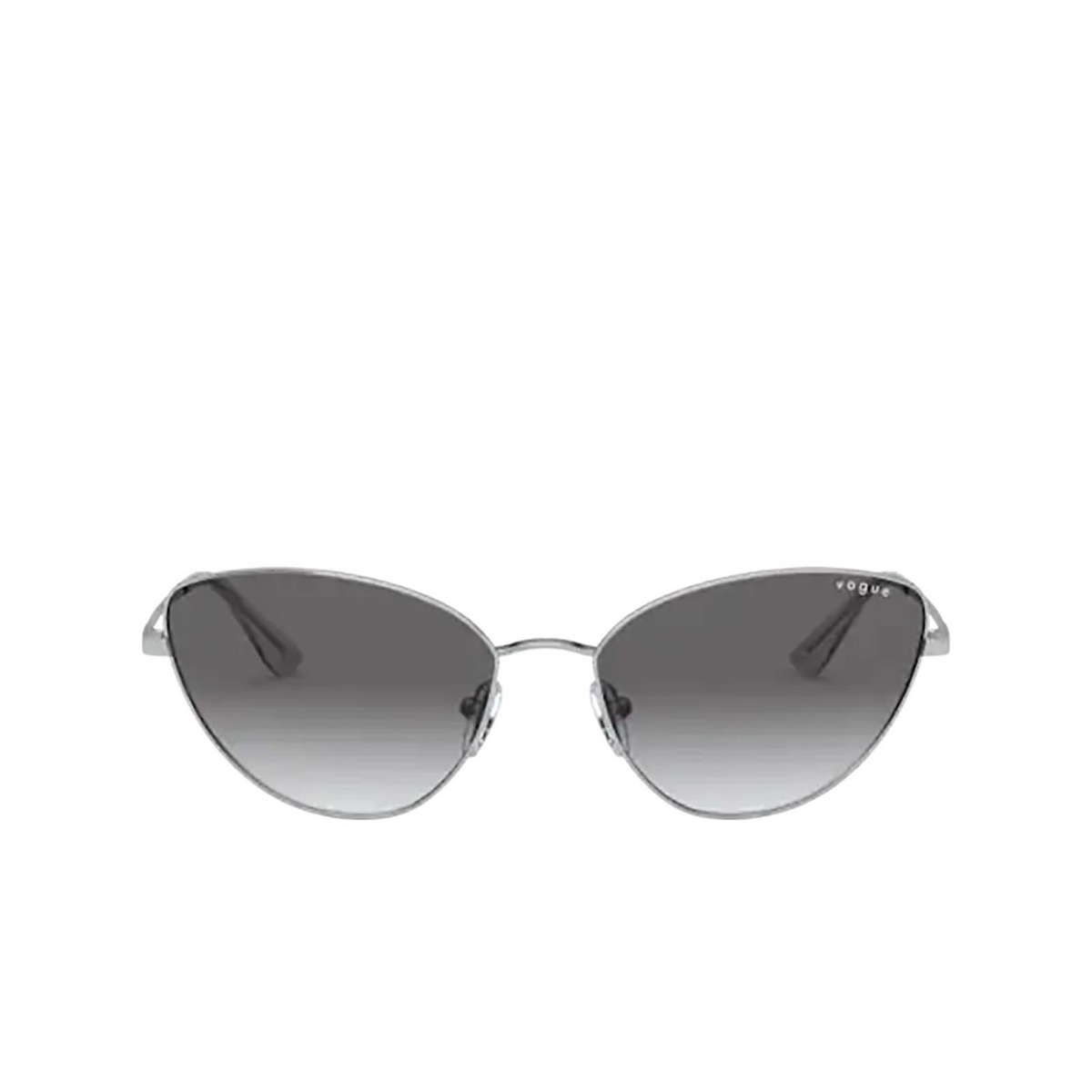 Vogue® Cat-eye Sunglasses: VO4179S color Silver 323/11 - front view.