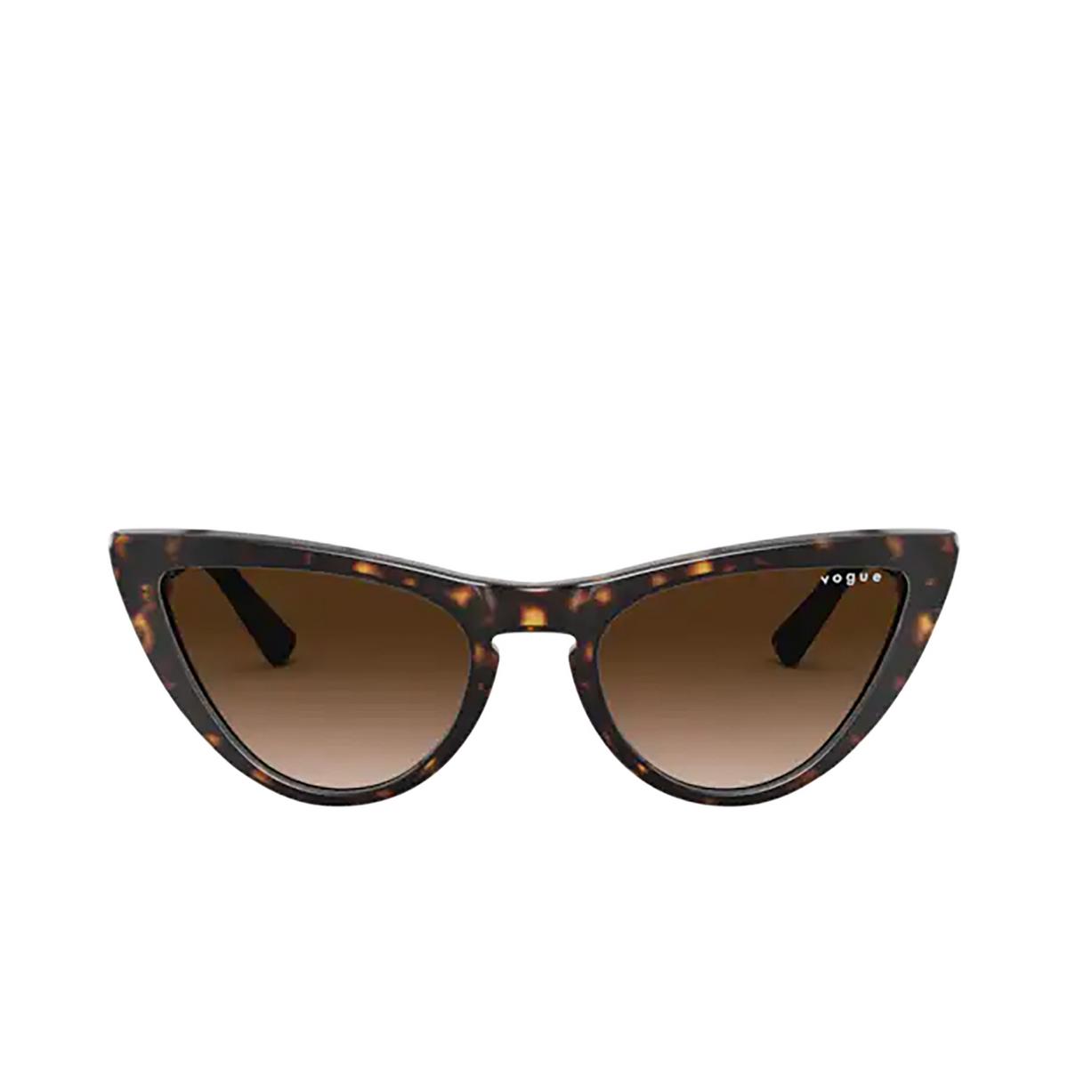 Vogue® Cat-eye Sunglasses: VO5211SM color Dark Havana W65613 - front view.