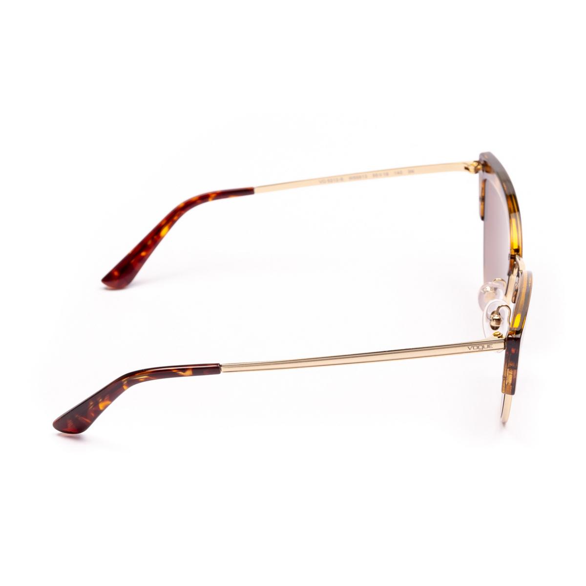 Vogue® Cat-eye Sunglasses: VO5212S color Top Dark Havana / Pale Gold W65613 - 4/4.