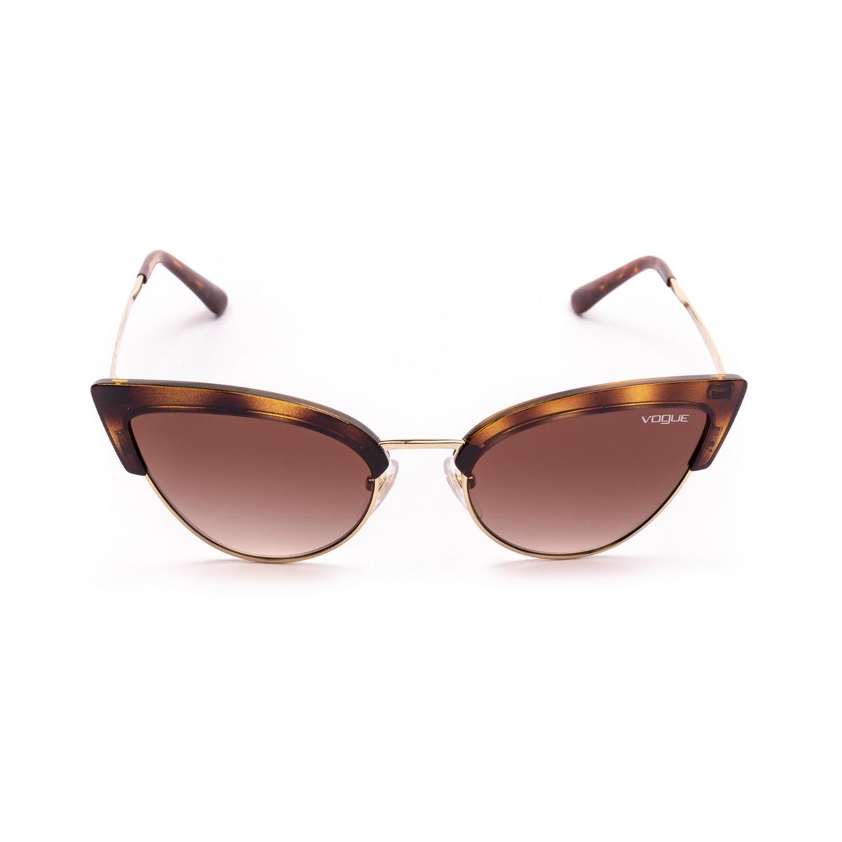 Vogue® Cat-eye Sunglasses: VO5212S color Top Dark Havana / Pale Gold W65613 - front view.