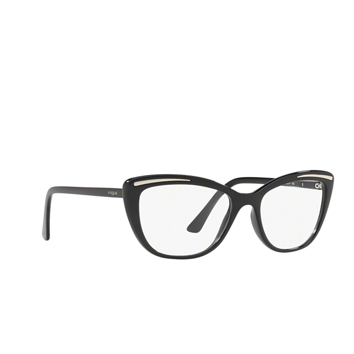 Vogue® Cat-eye Eyeglasses: VO5218 color Black W44.