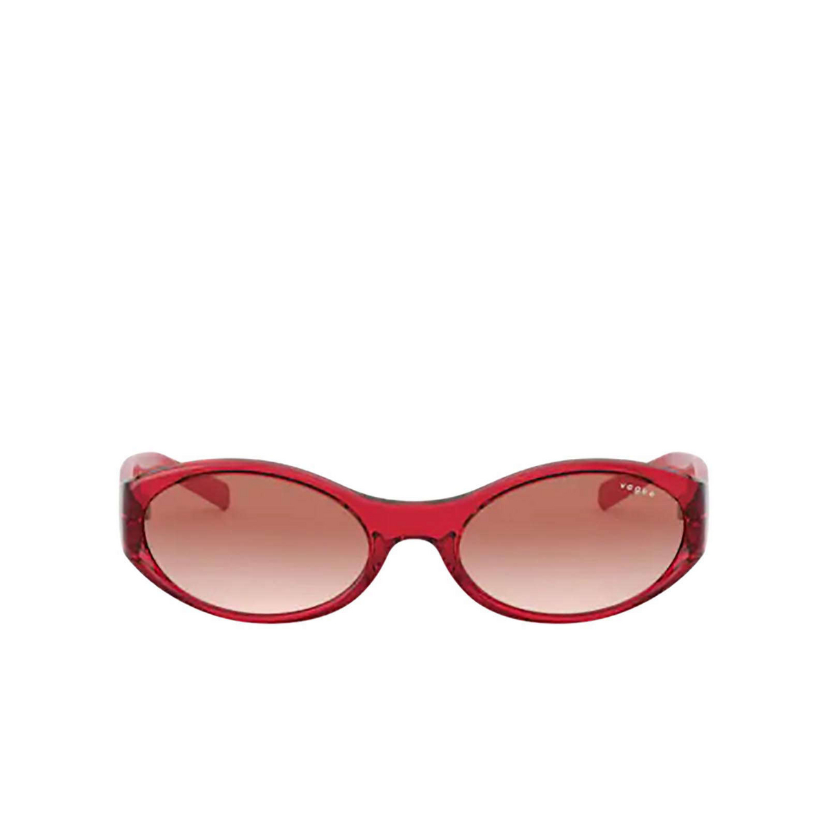 Vogue® Oval Sunglasses: VO5315S color Transparent Red 280313 - front view.