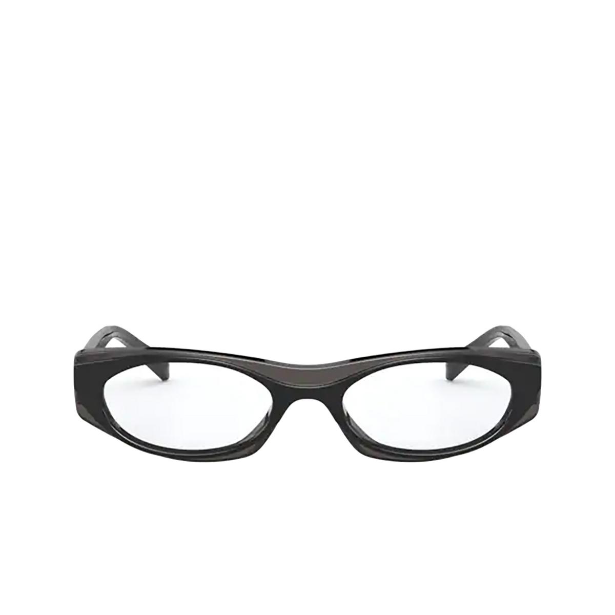 Vogue® Oval Eyeglasses: VO5316 color Top Black / Opal Black 2813 - front view.