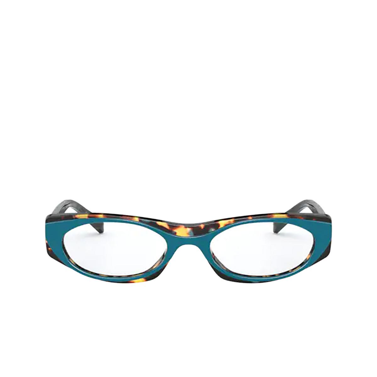 Vogue® Oval Eyeglasses: VO5316 color Top Green / Multi Blue Havana 2816 - front view.