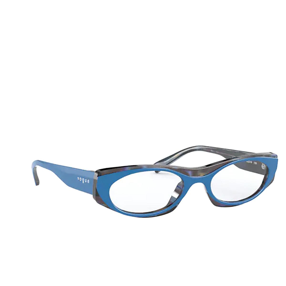 Vogue® Oval Eyeglasses: VO5316 color Top Blue / Multicolor Havana 2817 - three-quarters view.