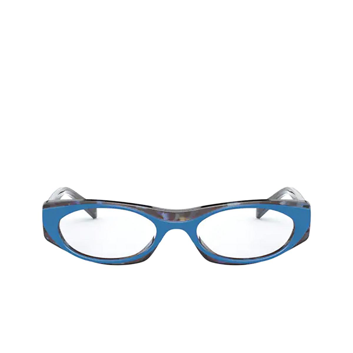 Vogue® Oval Eyeglasses: VO5316 color Top Blue / Multicolor Havana 2817 - front view.
