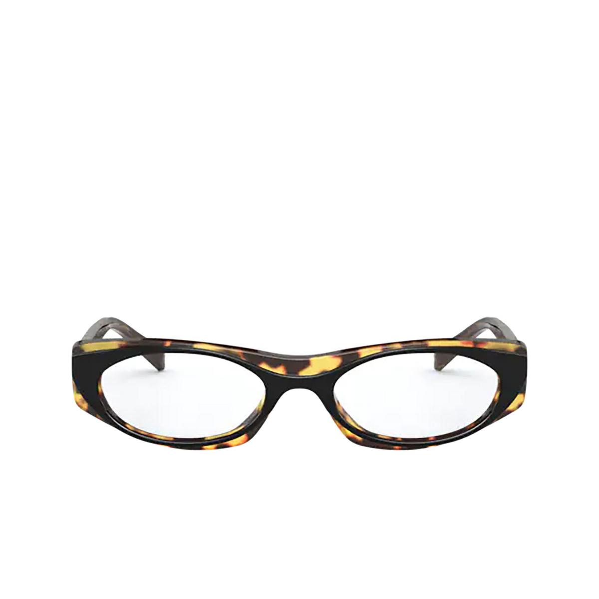 Vogue® Oval Eyeglasses: VO5316 color Top Black / Havana 2818 - front view.