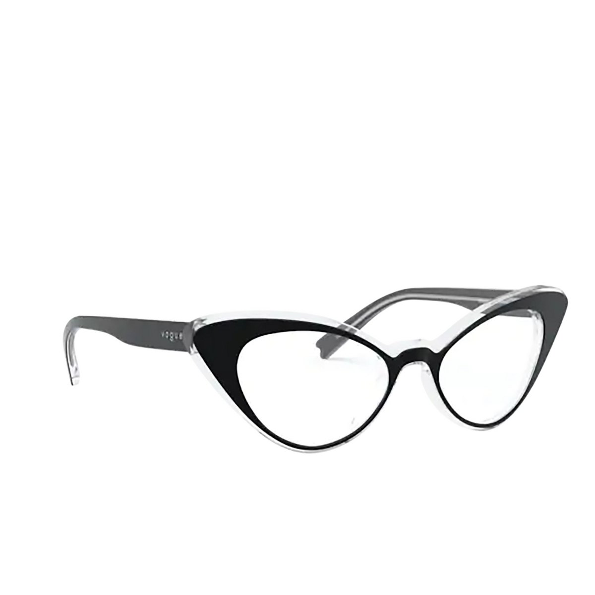 Vogue® Cat-eye Eyeglasses: VO5317 color Top Black / Crystal W827.