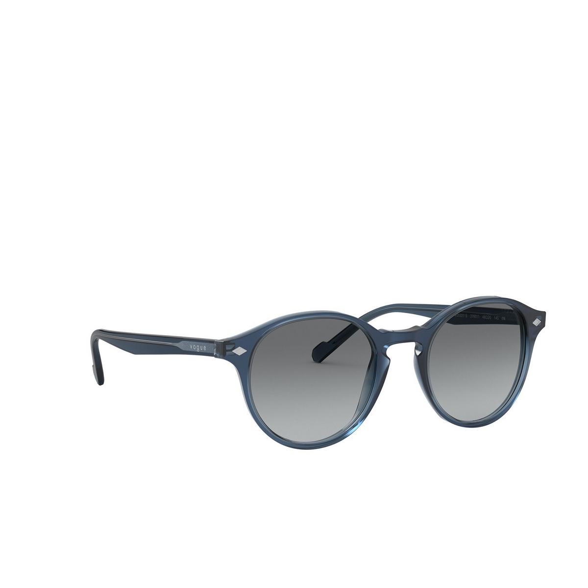 Vogue® Round Sunglasses: VO5327S color Transparent Blue 276011 - three-quarters view.