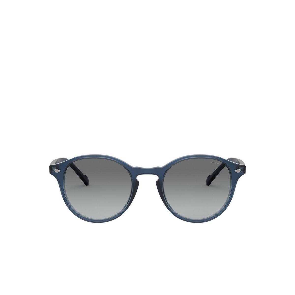 Vogue® Round Sunglasses: VO5327S color Transparent Blue 276011 - front view.