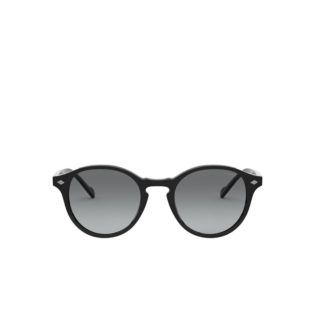 Vogue® Round Sunglasses: VO5327S color Black W44/11 - front view.