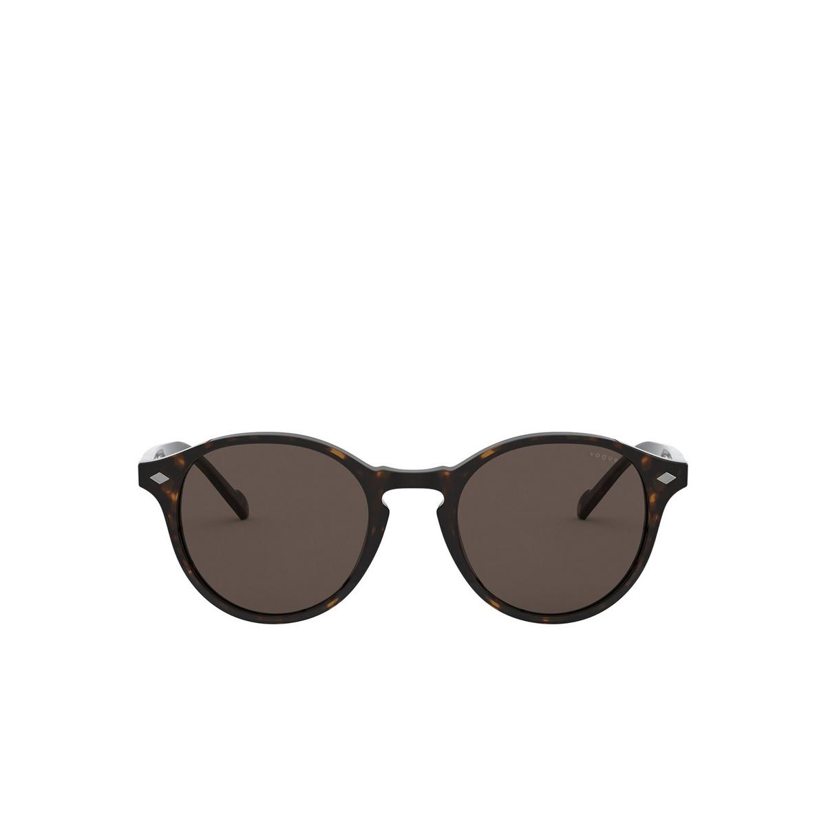 Vogue® Round Sunglasses: VO5327S color Dark Havana W65673 - front view.