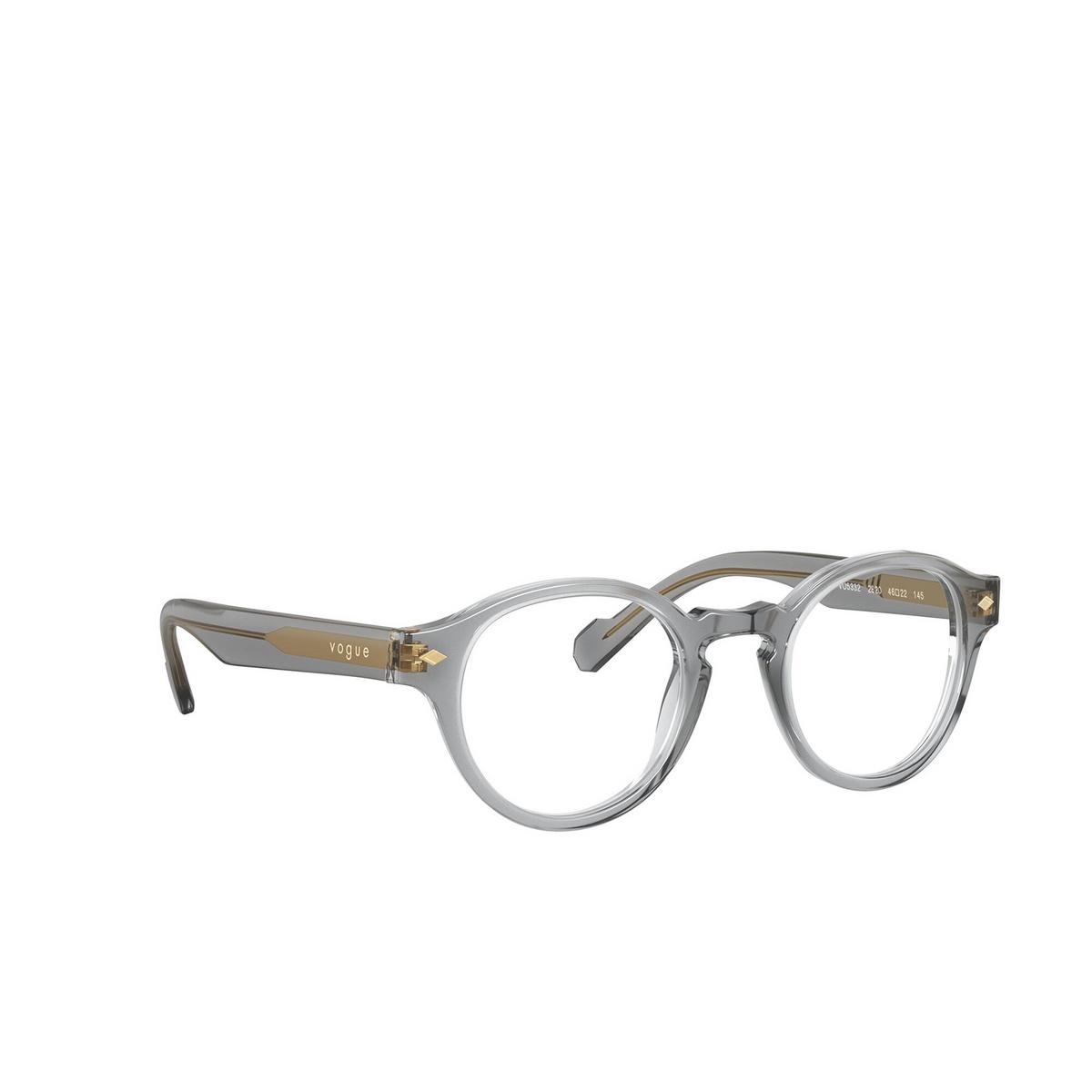 Vogue® Round Eyeglasses: VO5332 color Transparent Grey 2820 - three-quarters view.