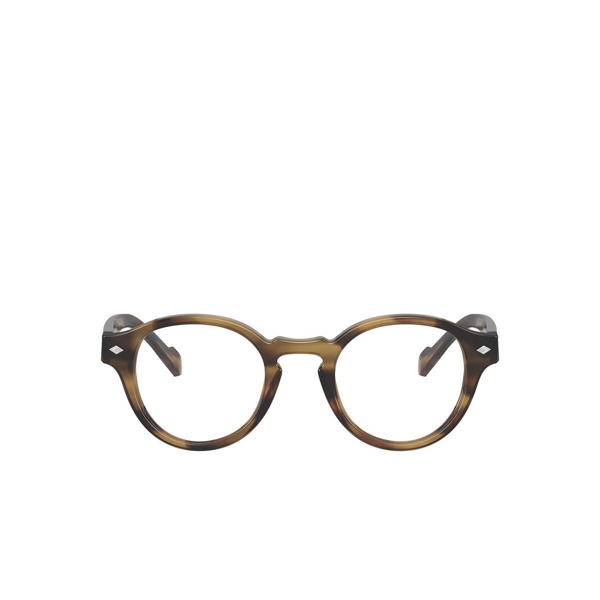 Vogue® Round Eyeglasses: VO5332 color Striped Havana 2856 - front view.