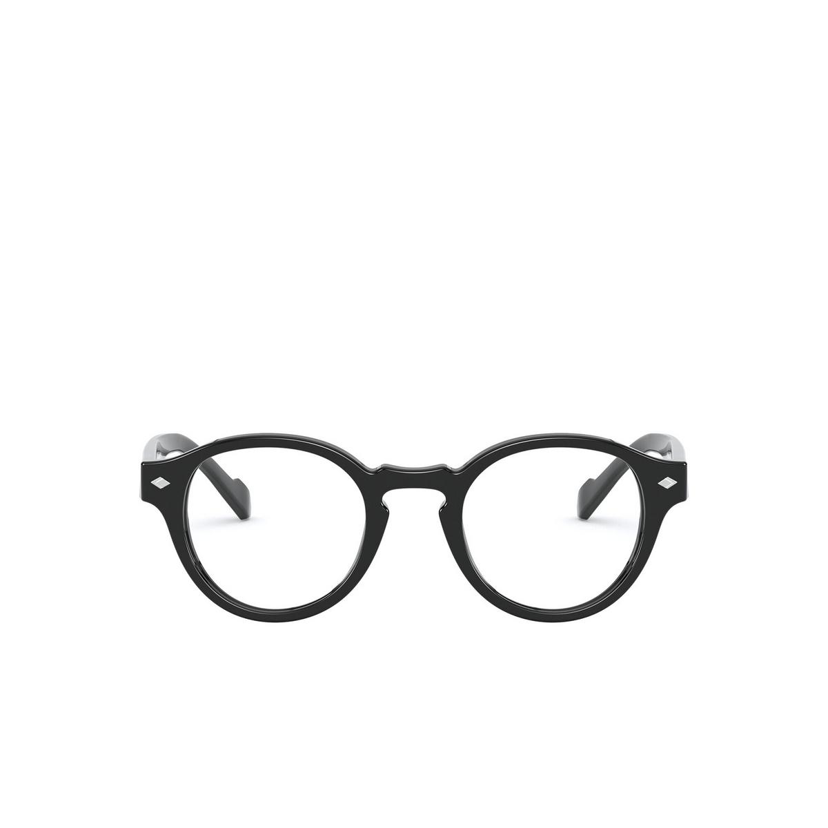 Vogue® Round Eyeglasses: VO5332 color Black W44 - front view.