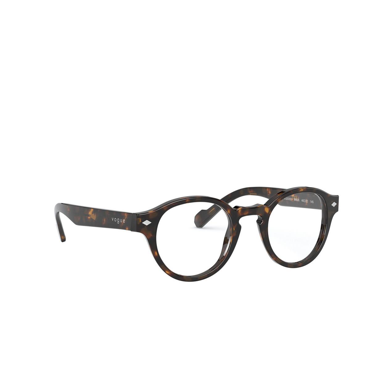 Vogue® Round Eyeglasses: VO5332 color Dark Havana W656 - three-quarters view.