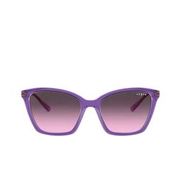 Vogue® Sunglasses: VO5333S color Top Violet / Transparent Grey 284890.