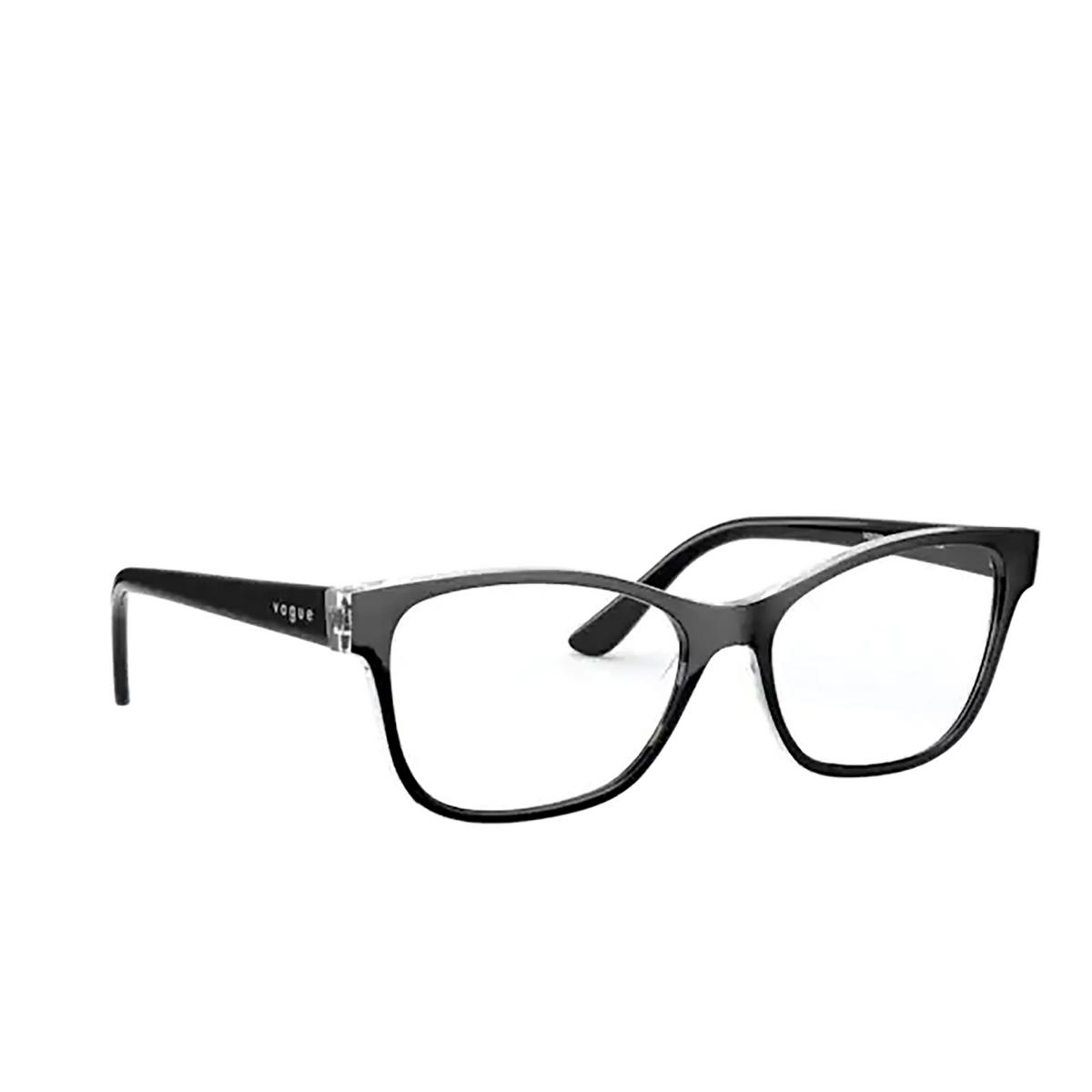 Vogue® Square Eyeglasses: VO5335 color Top Black / Serigraphy 2839.