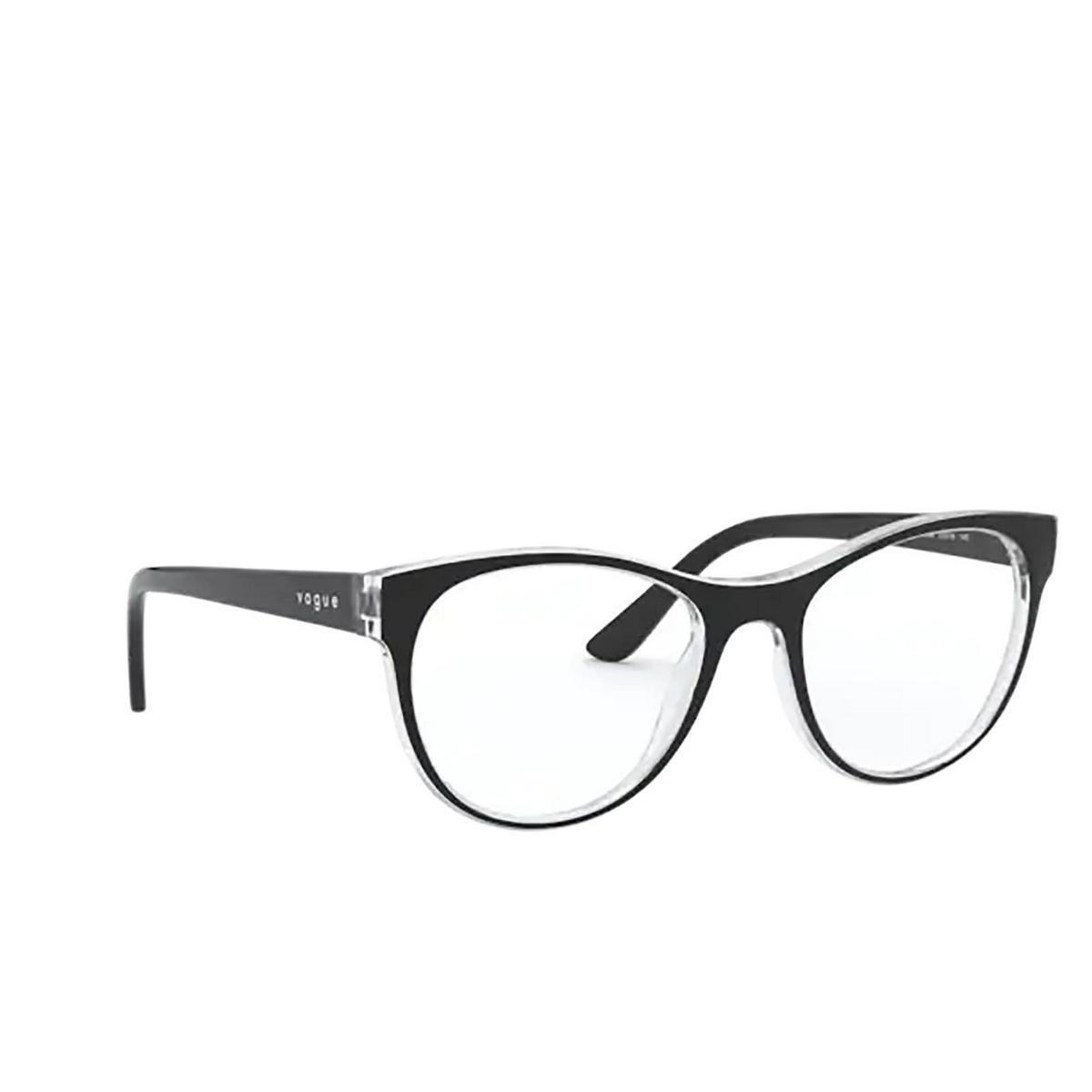 Vogue® Cat-eye Eyeglasses: VO5336 color Top Black / Serigraphy 2839.