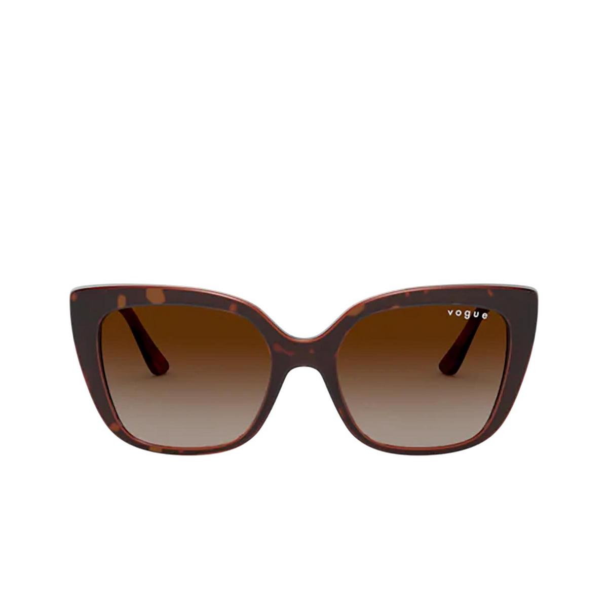 Vogue® Butterfly Sunglasses: VO5337S color Dark Havana 238613 - front view.