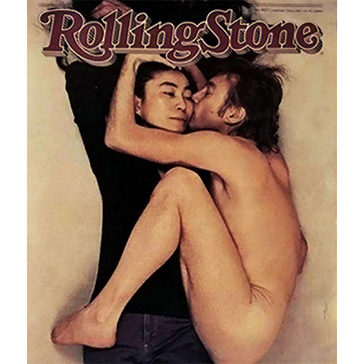 John Lennon and Yoko Ono captured by Annie Leibovitz for Rolling Stone magazine, 1980. This is the last photograph taken of Lennon before his death 5 hours later.