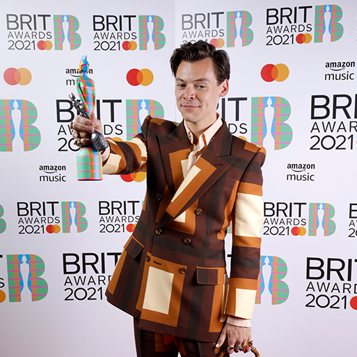 '70s Revival: Harry Styles in a Retro Gucci Suit at the 2021 BRIT Awards