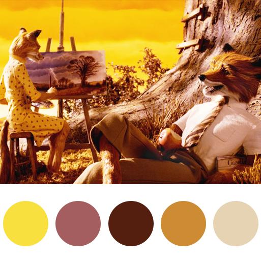 Fantastic Mr. Fox (2009) - color palette