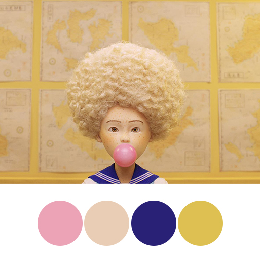 Isle of Dogs (2018) - color palette