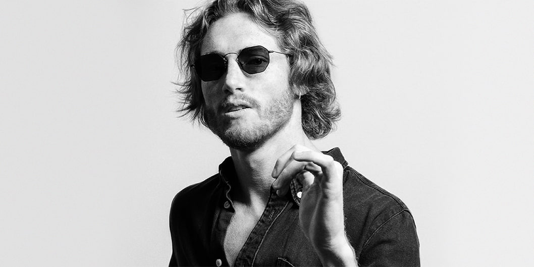 Man-wearing-Eyepetizer-Claire-X-Mia-Burton-sunglasses