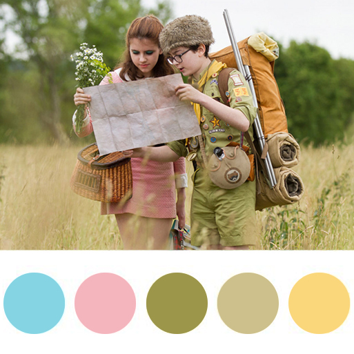 Moonrise Kingdom (2012) - color palette