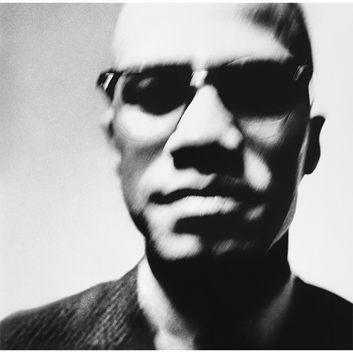 Malcolm X, captured by Richard Avedon in New York City, 1963.