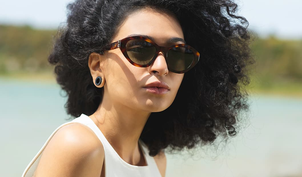 Saint Laurent SLM60 shades in Havana.