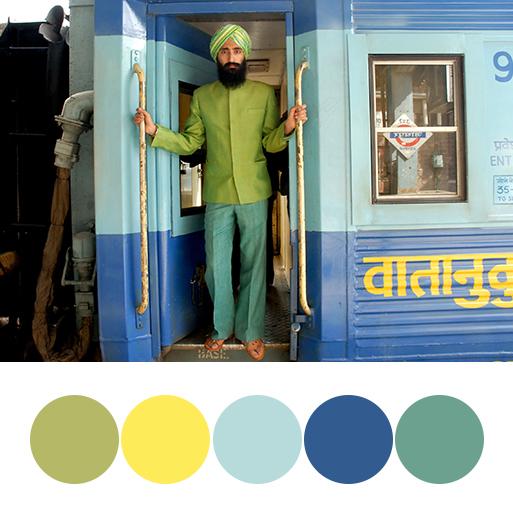 The Darjeeling Limited (2007) - color palette