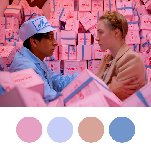 The Grand Budapest Hotel (2014) - color palette